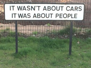 Not about cars, its people
