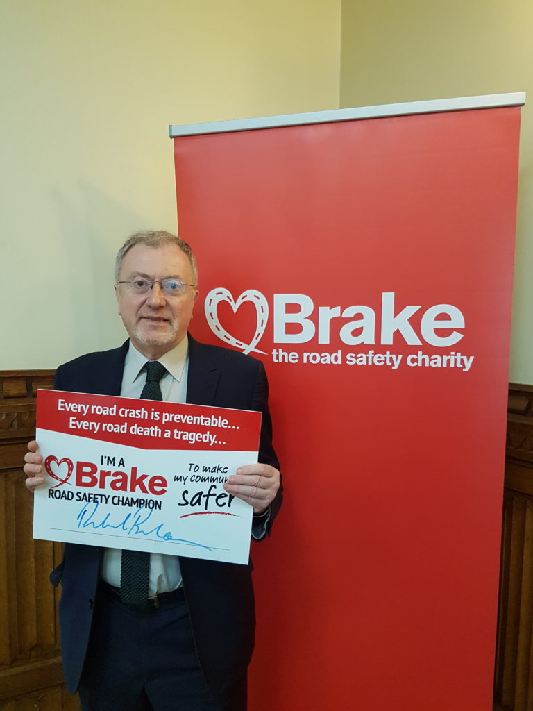 Richard Burden MP Brake road safety drop in